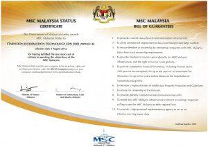 Starvision Malaysia obtain MSC Status